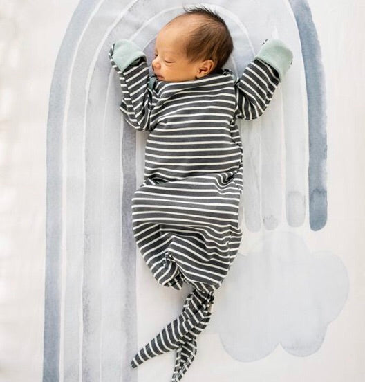 GLACIER & CHARCOAL STRIPE SLEEPER