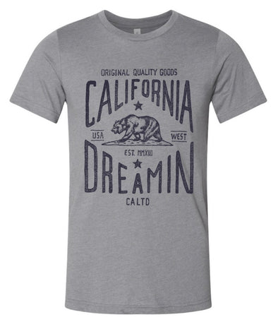 CALIFORNIA DREAMIN GREY TEE