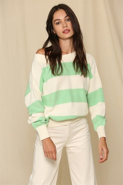 WHITE MINT SWEATER
