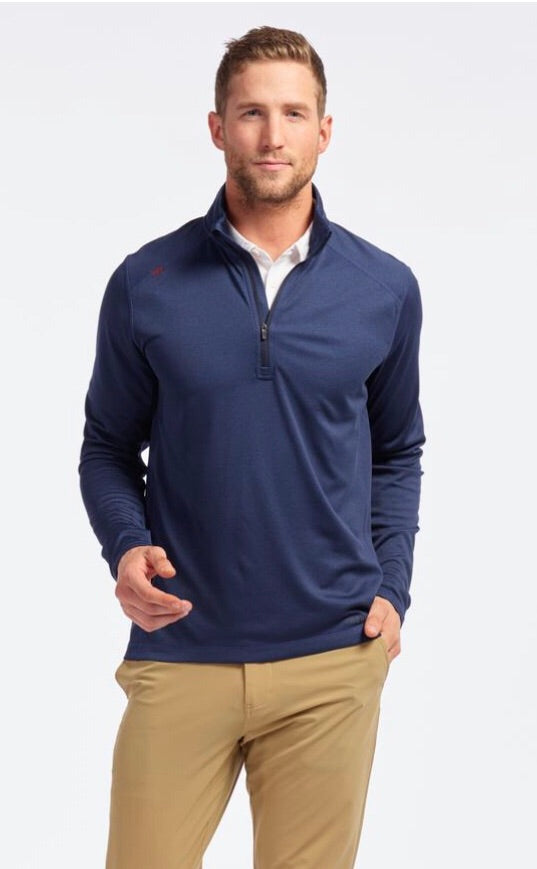 MEN'S 1/4 ZIP PULLOVER - NAVY