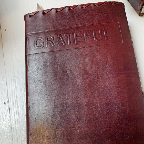 LEATHER BOUND GRATITUDE JOURNALS