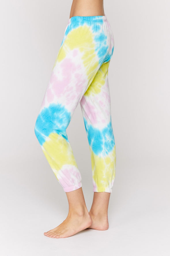 HIGHLIGHTER TIE DYE PERFECT SWEATPANTS