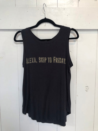 ALEXA SKIP TO FRIDAY TANK - BLACK