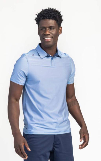 COMMUTER SPORT POLO - BLUE OXFORD