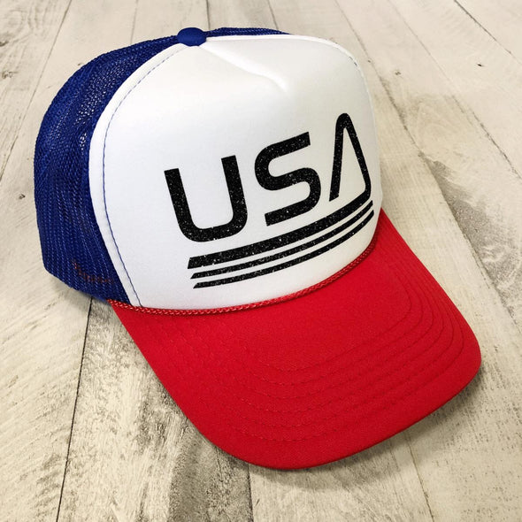 USA RETRO TRUCKER HAT