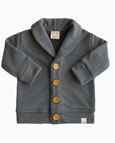 CLASSIC CHARCOAL GRAY CARDIGAN