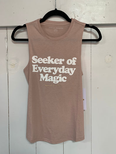 SEEKER MUSCLE TANK - ROSE QUARTZ