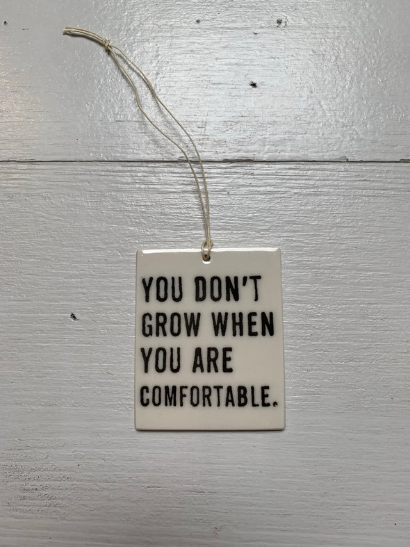 YOU DON'T GROW WALL TAG
