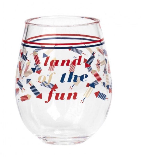 STEMLESS ACRYLIC WINE GLASS - AMERICANA