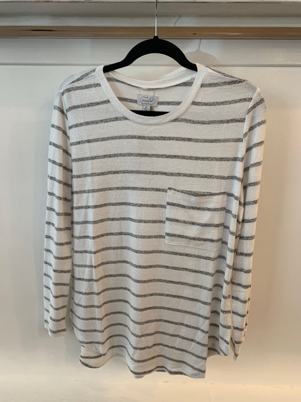 BILLIE T-SHIRT WHITE STRIPE