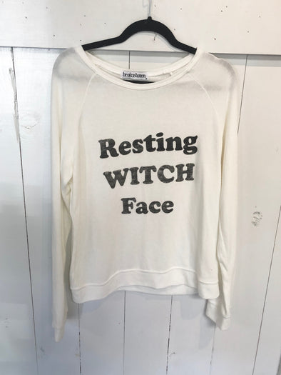 RESTING WITH FACE SWEATSHIRT