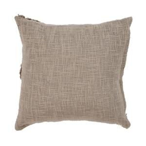"UNDERSTATED TAUPE 20"" X 20"" THROW PILLOW"