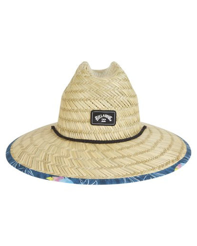 TIDES PRINT STRAW LIFEGUARD HAT-NAVY
