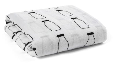ORGANIC COTTON SWADDLE BLANKET MILK