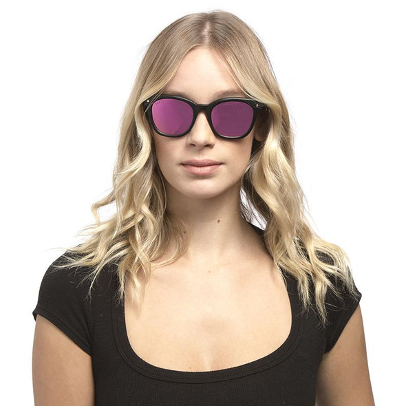 RYDER MATTE BLACK + PINK MIRROR POLARIZED LENS