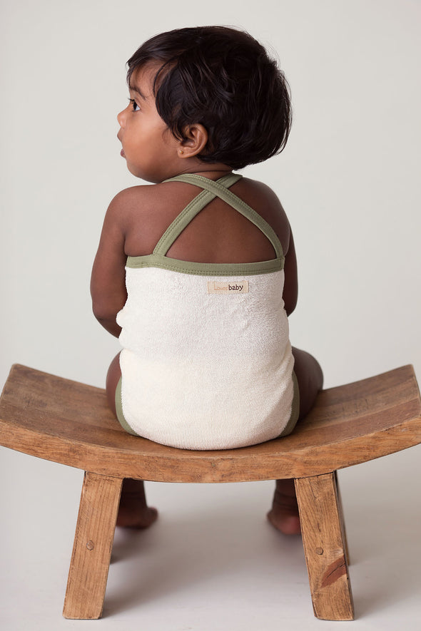 TERRY CLOTH BODYSUIT-MAPLE