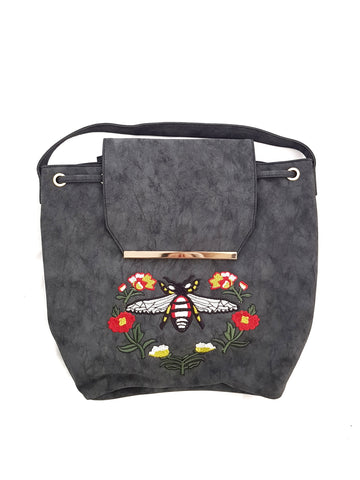 Mash Accessories Floral Beetle Vegan Backpack