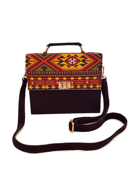 Mash Accessories Aztec Vegan Suede Handbag