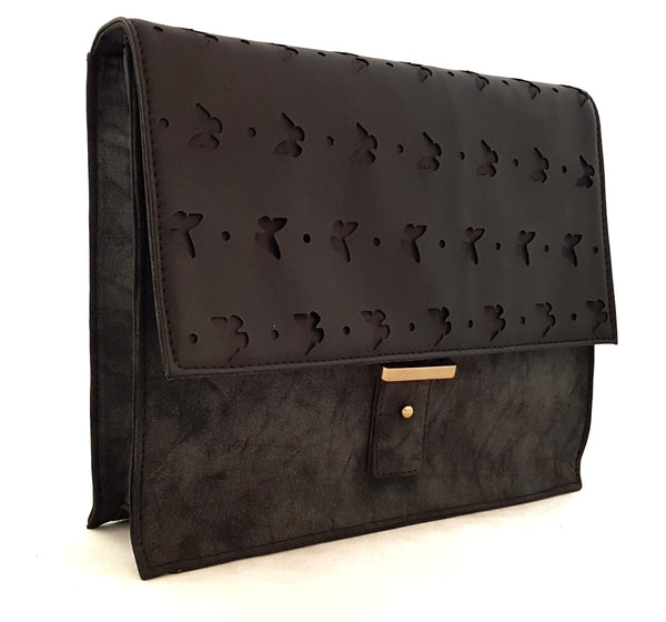 Mash Accessories Butterfly Laser Cut Vegan Cross Body Bag Black