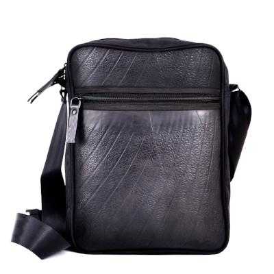 Ecowings 'Robby' Vegan Leather Shoulder/Sling Bag - ALL BLACK