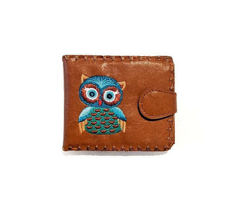 Lavishy Vegan Leather Cute Owl Wallet Front