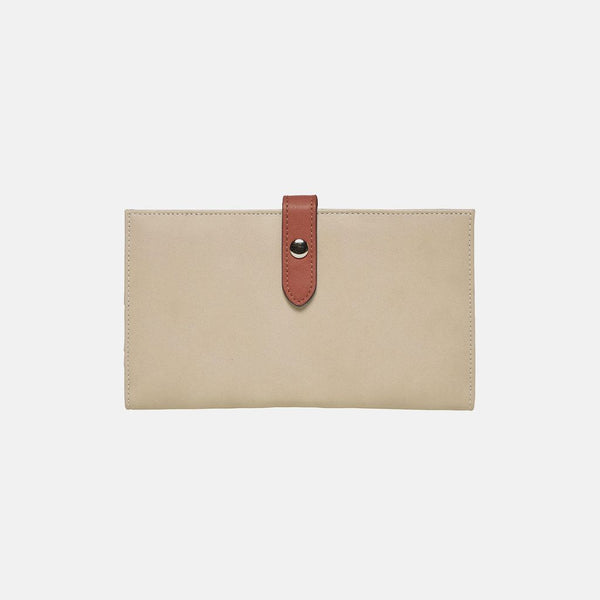 Urban Originals New Shadow Vegan Leather Wallet  BEIGE/BRICK