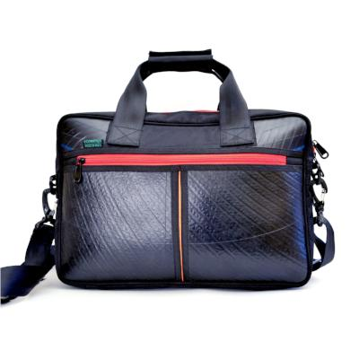 Ecowings 'Panda' Mens Vegan Office Bag - BLACK/RED