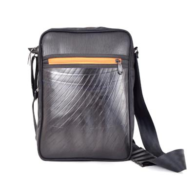 Ecowings 'Robby' Vegan Leather Shoulder/Sling Bag - Black Orange