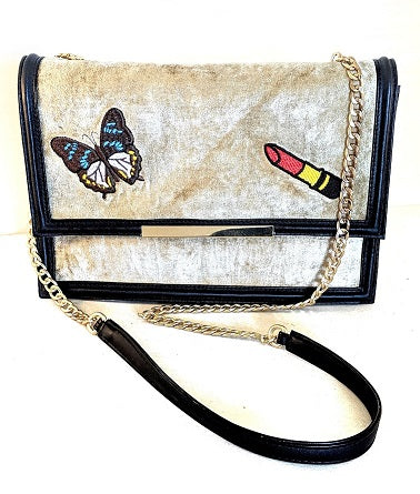 Mash Accessories Butterfly Lipstick Vegan Handbag