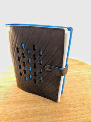 Ecowings Vegan Leather Tube Note Book - BLUE