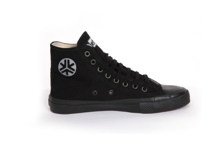 Etiko Organic Fairtrade Sneakers Hi-tops All Black