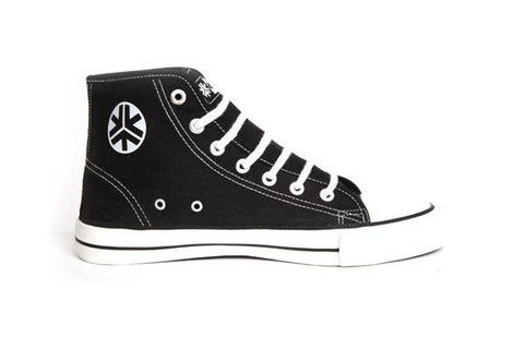 Etiko Organic Fairtrade Sneakers Hi-tops Black and White
