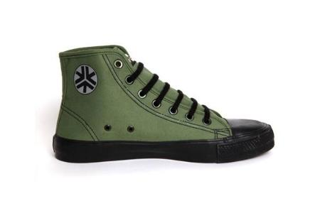 Etiko Organic Fairtrade Sneakers Hi-tops Olive
