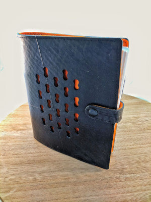 Ecowings Vegan Leather Tube Note Book - ORANGE