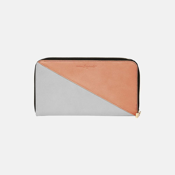 Urban Originals Vegan Leather Up All Night Wallet   GREY/PINK