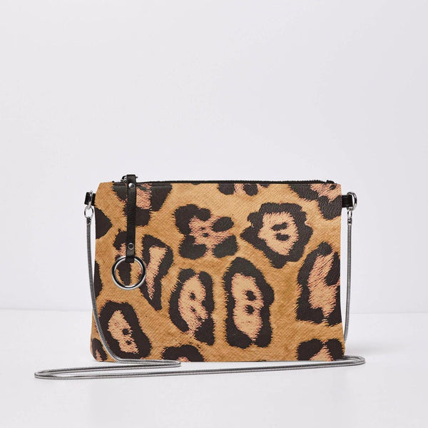 Urban Originals Sweet Talk Crossbody Vegan Leather Bag TAN LEOPARD