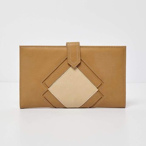 Urban Originals Vegan Leather Ventura Wallet   LATTE/STONE