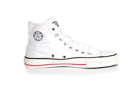 Etiko Organic Fairtrade Sneakers Hi-tops White