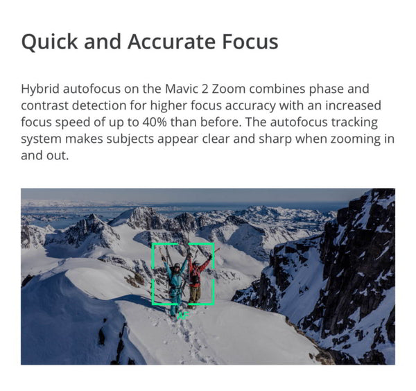 Mavic 2 Quck and Accurate Focus