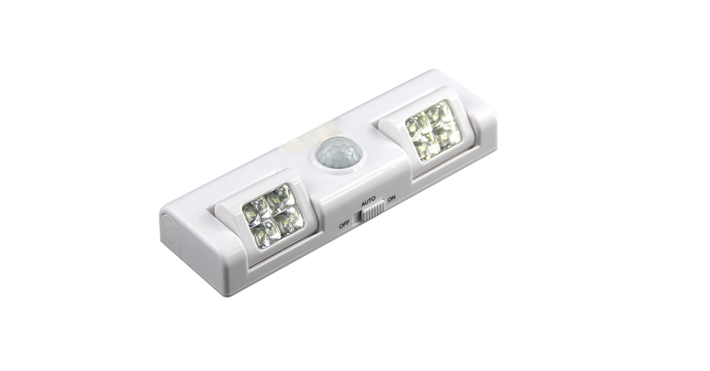 8 LED Infrared Induction Adjustable Emergency Lamp