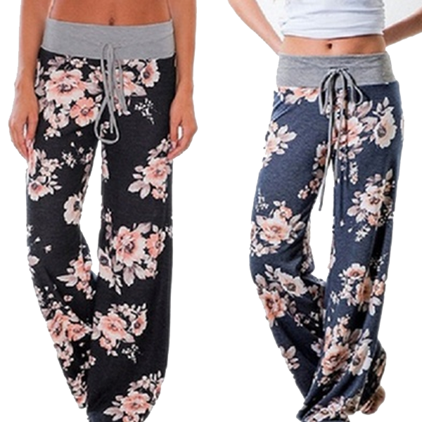Women's Loose-Fit Floral Pants - Best Seller - Black Friday Special - Deal Ends Soon