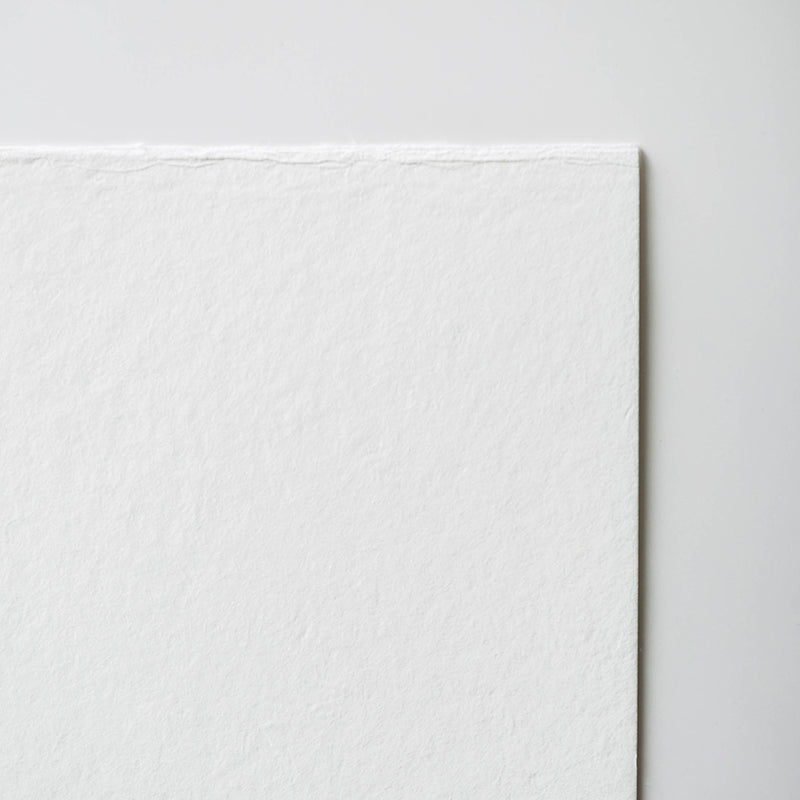 Bizan Handmade Thick - White (4 Deckle Edges)