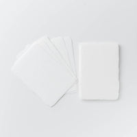 Shiramine White Handmade Postcards (5 pcs.)