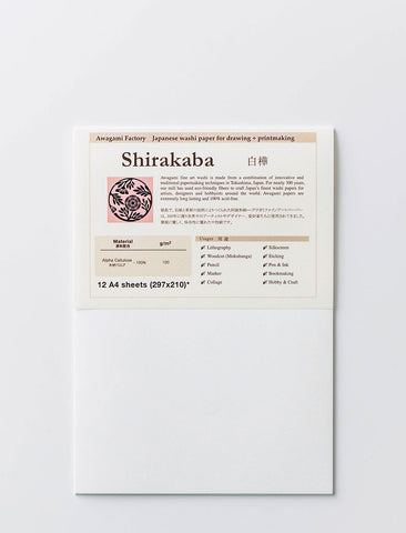 Fine Art Paper Pack (12 Sheets) - Shirakaba 100gsm