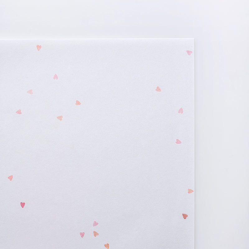 Washi Paper Pack - Heart Inclusions (20 A4 sheets)