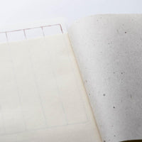 Wacho Hand-dyed Persimmon Notebook - Crinkle Texture