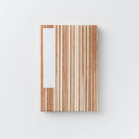 Orihon Large Persimmon Accordion Book - Shima Stripe Pattern