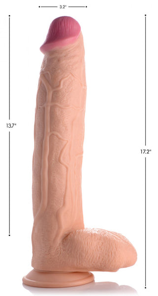 Realistic-17-inch-Huge-Dildo-Suction-Cup-A-Butt-Plug-Sex-Toy-For-Men - PleasureYouPleasureMe
