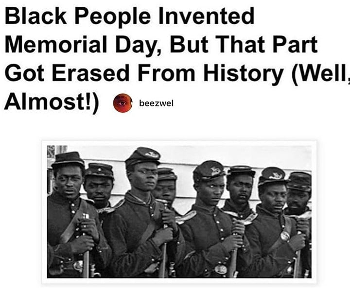 Black People invented Memorial Day