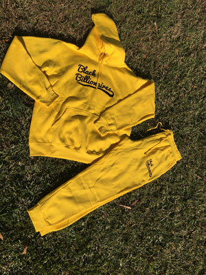 Yellow Black Billionaire Jogger set.